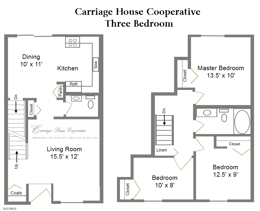 Floor plans carriage house cooperative for Carriage house floor plans